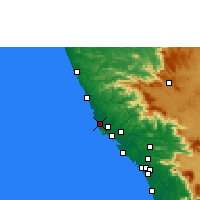 Nearby Forecast Locations - Payyanur - Χάρτης