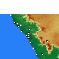 Nearby Forecast Locations - Peringathur - Χάρτης