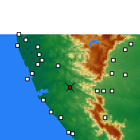 Nearby Forecast Locations - Punalur - Χάρτης
