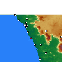 Nearby Forecast Locations - Koyilandy - Χάρτης