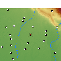 Nearby Forecast Locations - Rampur Maniharan - Χάρτης