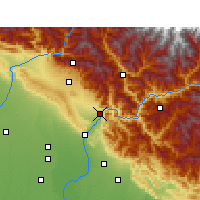 Nearby Forecast Locations - Rishikesh - Χάρτης