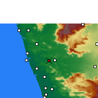 Nearby Forecast Locations - Shoranur - Χάρτης