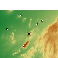 Nearby Forecast Locations - Sirohi - Χάρτης