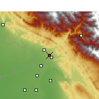 Nearby Forecast Locations - Sujanpur - Χάρτης