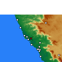 Nearby Forecast Locations - Taliparamba - Χάρτης