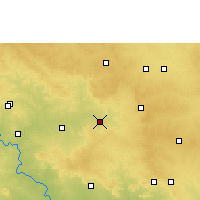 Nearby Forecast Locations - Tandur - Χάρτης