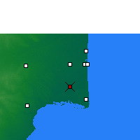 Nearby Forecast Locations - Thiruthuraipoondi - Χάρτης