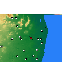 Nearby Forecast Locations - Tiruvallur - Χάρτης