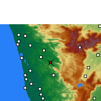 Nearby Forecast Locations - Thodupuzha - Χάρτης