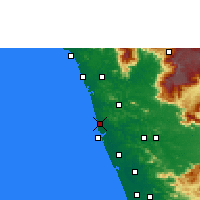 Nearby Forecast Locations - Tirur - Χάρτης