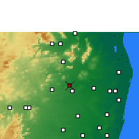 Nearby Forecast Locations - Thiruttani - Χάρτης