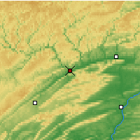 Nearby Forecast Locations - Lock Haven - Χάρτης