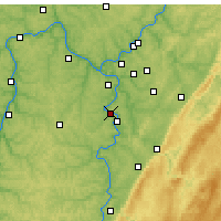 Nearby Forecast Locations - Monongahela - Χάρτης