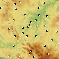 Nearby Forecast Locations - Holýšov - Χάρτης