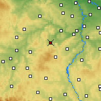 Nearby Forecast Locations - Hořovice - Χάρτης