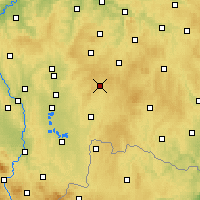 Nearby Forecast Locations - Kamenice nad Lipou - Χάρτης