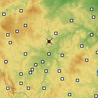 Nearby Forecast Locations - Kaznějov - Χάρτης