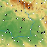 Nearby Forecast Locations - Lázně Bělohrad - Χάρτης