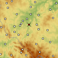 Nearby Forecast Locations - Přeštice - Χάρτης