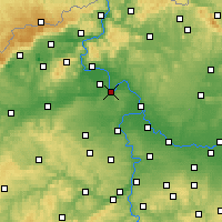 Nearby Forecast Locations - Roudnice nad Labem - Χάρτης