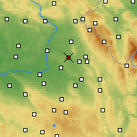 Nearby Forecast Locations - Týniště nad Orlicí - Χάρτης