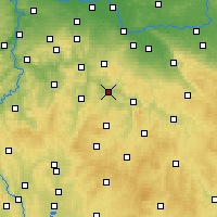 Nearby Forecast Locations - Zruč nad Sázavou - Χάρτης