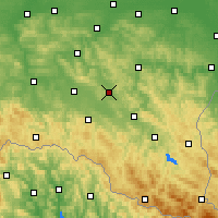 Nearby Forecast Locations - Brzozów - Χάρτης