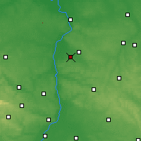 Nearby Forecast Locations - Opole Lubelskie - Χάρτης