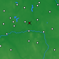 Nearby Forecast Locations - Ślesin - Χάρτης