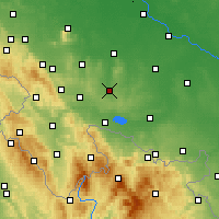 Nearby Forecast Locations - Ziębice - Χάρτης
