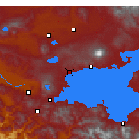 Nearby Forecast Locations - Ahlat - Χάρτης