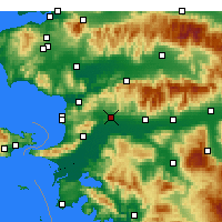 Nearby Forecast Locations - Germencik - Χάρτης