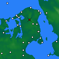 Nearby Forecast Locations - Hillerød - Χάρτης