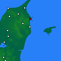 Nearby Forecast Locations - Frederikshavn - Χάρτης