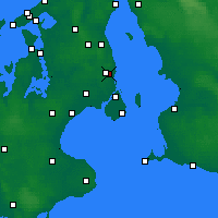 Nearby Forecast Locations - Gentofte - Χάρτης