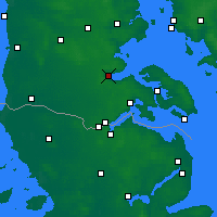 Nearby Forecast Locations - Aabenraa - Χάρτης