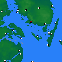 Nearby Forecast Locations - Faaborg - Χάρτης