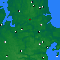 Nearby Forecast Locations - Hobro - Χάρτης