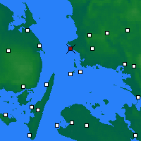 Nearby Forecast Locations - Korsør - Χάρτης