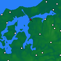 Nearby Forecast Locations - Løgstør - Χάρτης