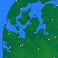 Nearby Forecast Locations - Nykøbing Mors - Χάρτης