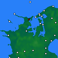 Nearby Forecast Locations - Nykøbing Sjælland - Χάρτης