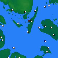 Nearby Forecast Locations - Rudkøbing - Χάρτης