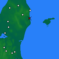 Nearby Forecast Locations - Sæby - Χάρτης