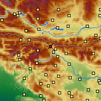 Nearby Forecast Locations - Jesenice - Χάρτης