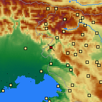 Nearby Forecast Locations - Kanal ob Soči - Χάρτης