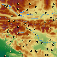 Nearby Forecast Locations - Žirovnica - Χάρτης