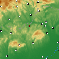 Nearby Forecast Locations - Ózd - Χάρτης