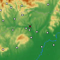 Nearby Forecast Locations - Edelény - Χάρτης